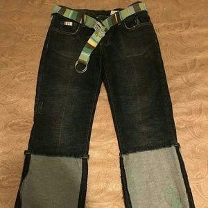 jeans  tweed belt